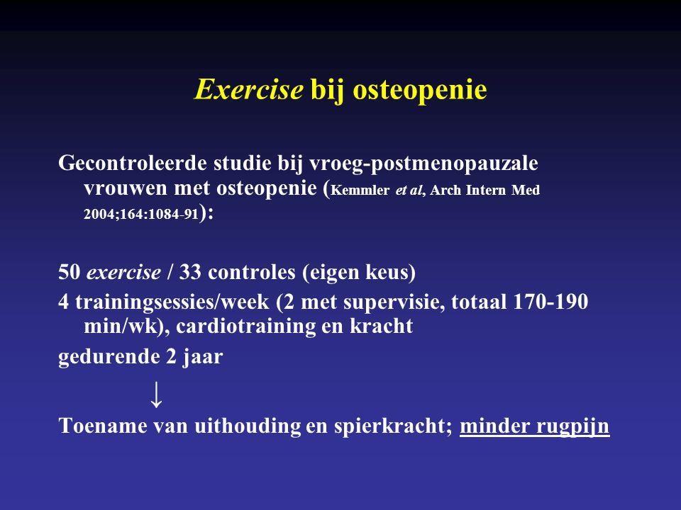Exercise bij osteopenie