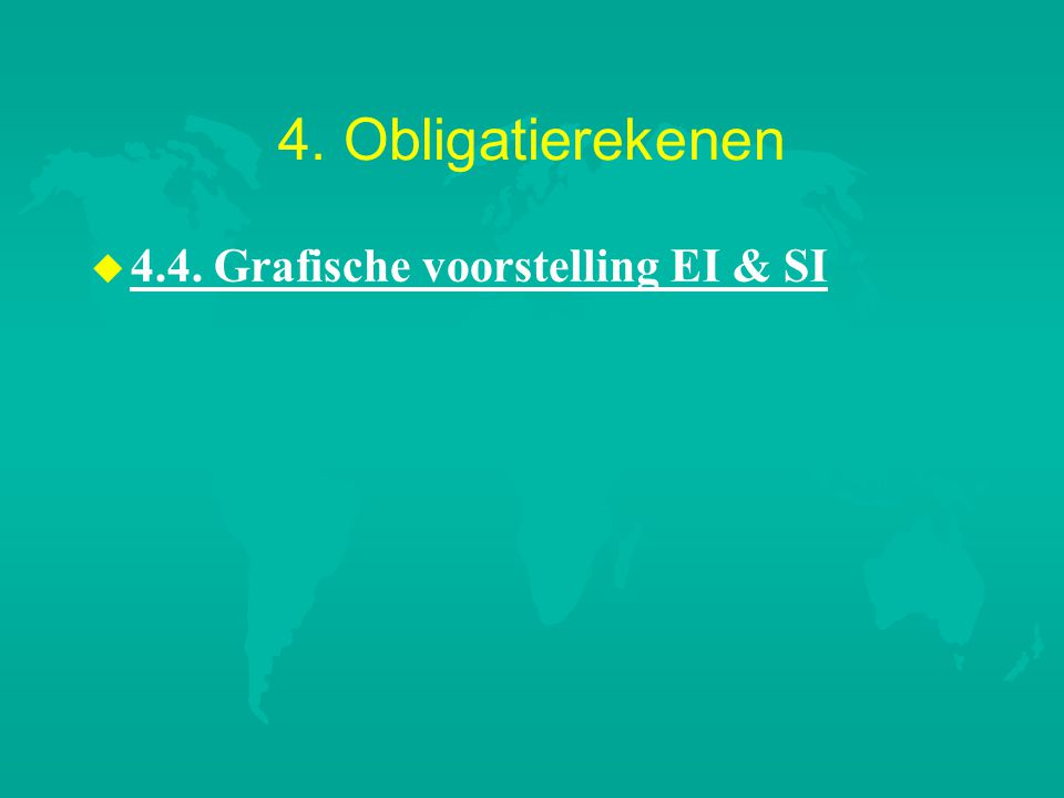 4. Obligatierekenen 4.4. Grafische voorstelling EI & SI