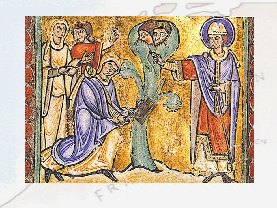 De missionaris Amandus, die veel werk heeft verzet in de Zuidelijke nederlanden (waaronder Maastricht) liet heilige bomen kappen