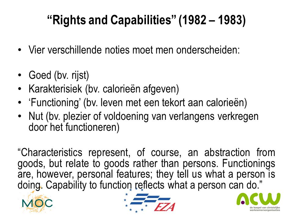 Rights and Capabilities (1982 – 1983)