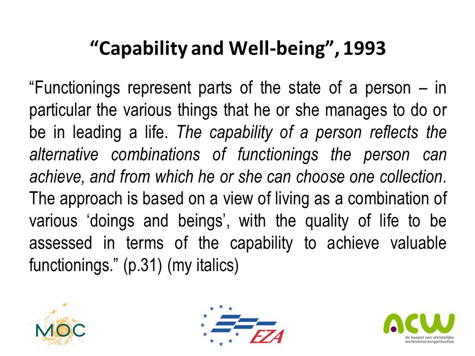 Capability and Well-being , 1993