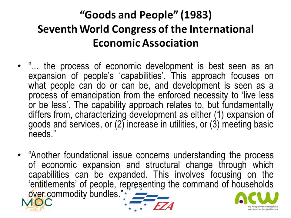 Goods and People (1983) Seventh World Congress of the International Economic Association