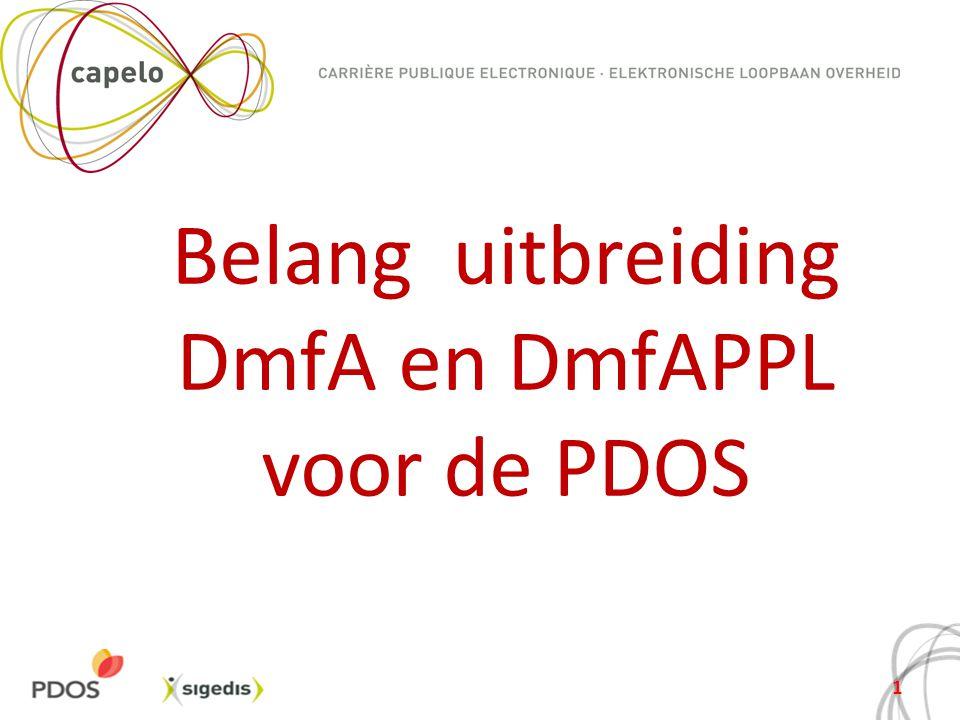 Belang uitbreiding DmfA en DmfAPPL voor de PDOS