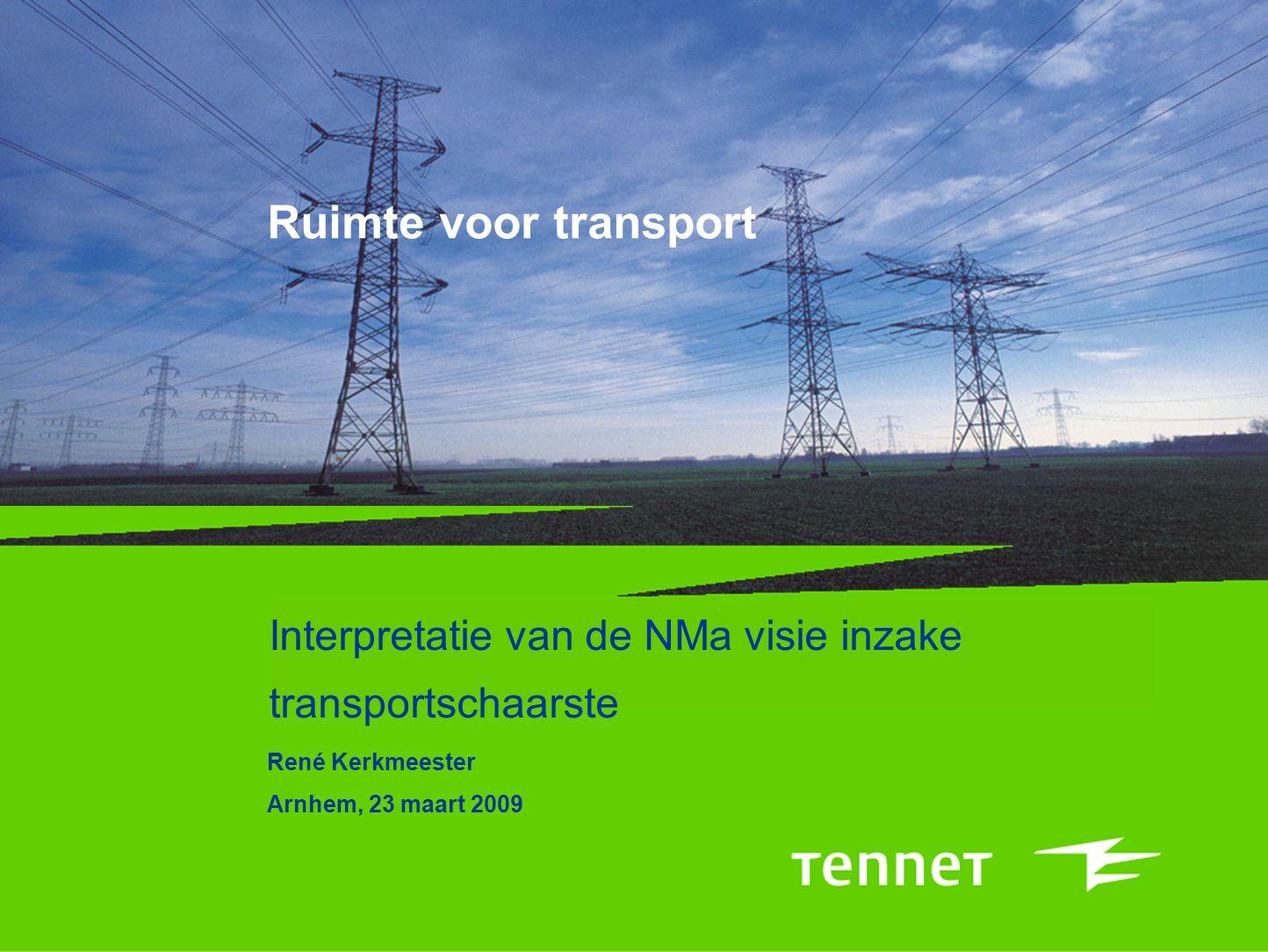 Interpretatie van de NMa visie inzake transportschaarste