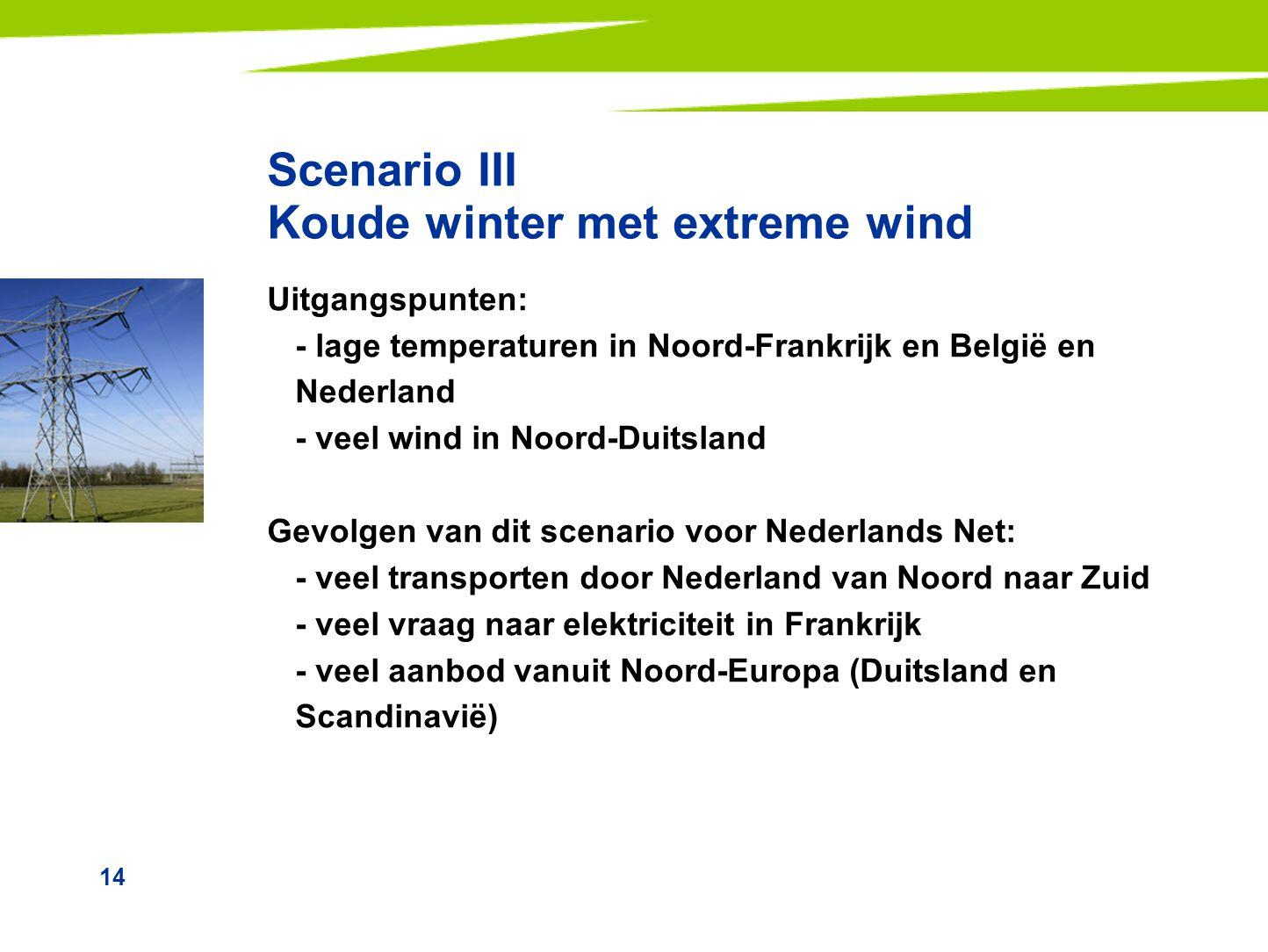 Scenario III Koude winter met extreme wind