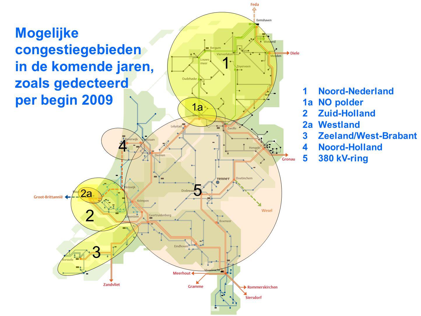 1 4 5 2 3 Mogelijke congestiegebieden
