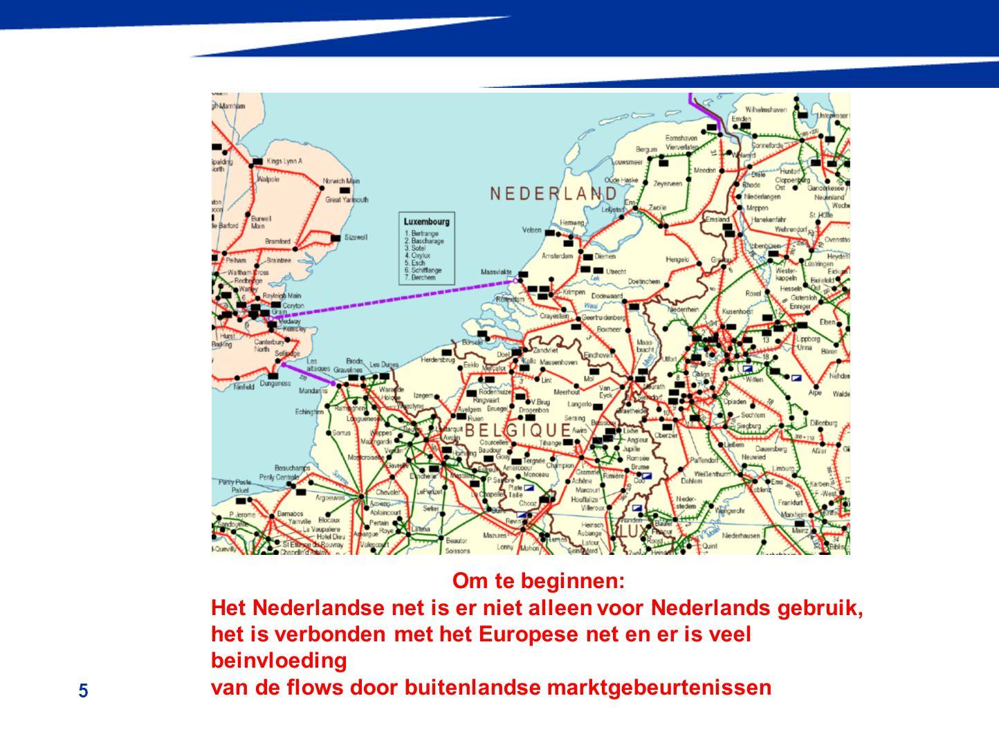 Om te beginnen: Het Nederlandse net is er niet alleen voor Nederlands gebruik, het is verbonden met het Europese net en er is veel beinvloeding.