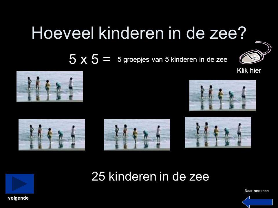 Hoeveel kinderen in de zee