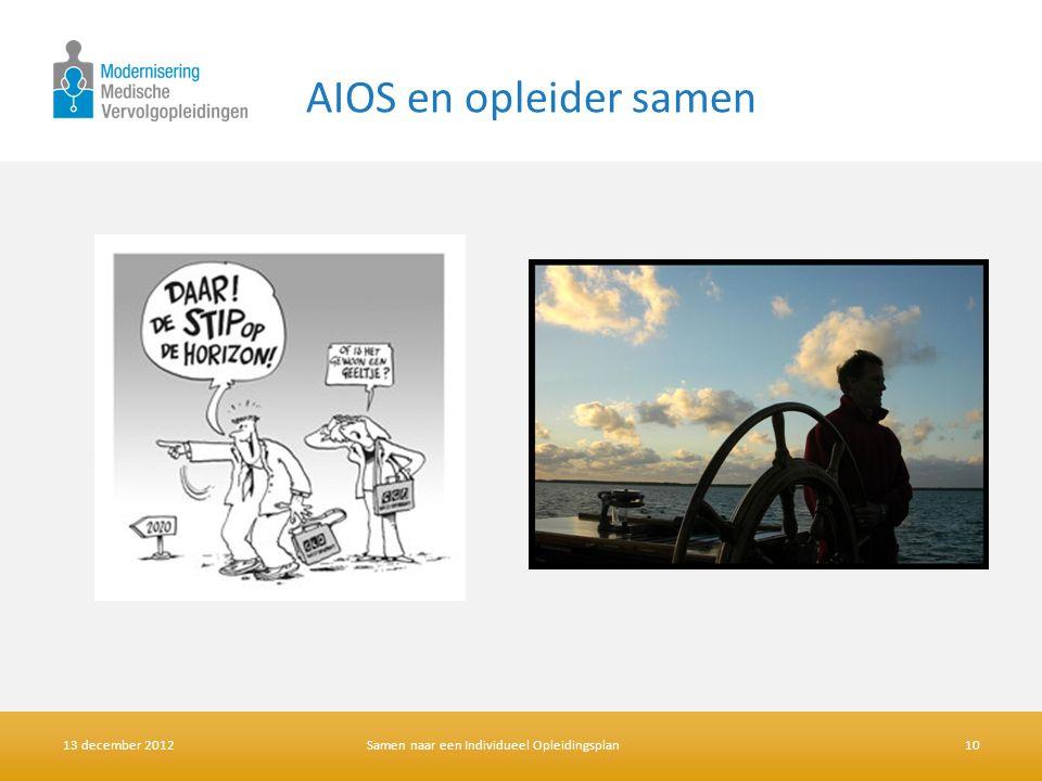 AIOS en opleider samen 13 december 2012