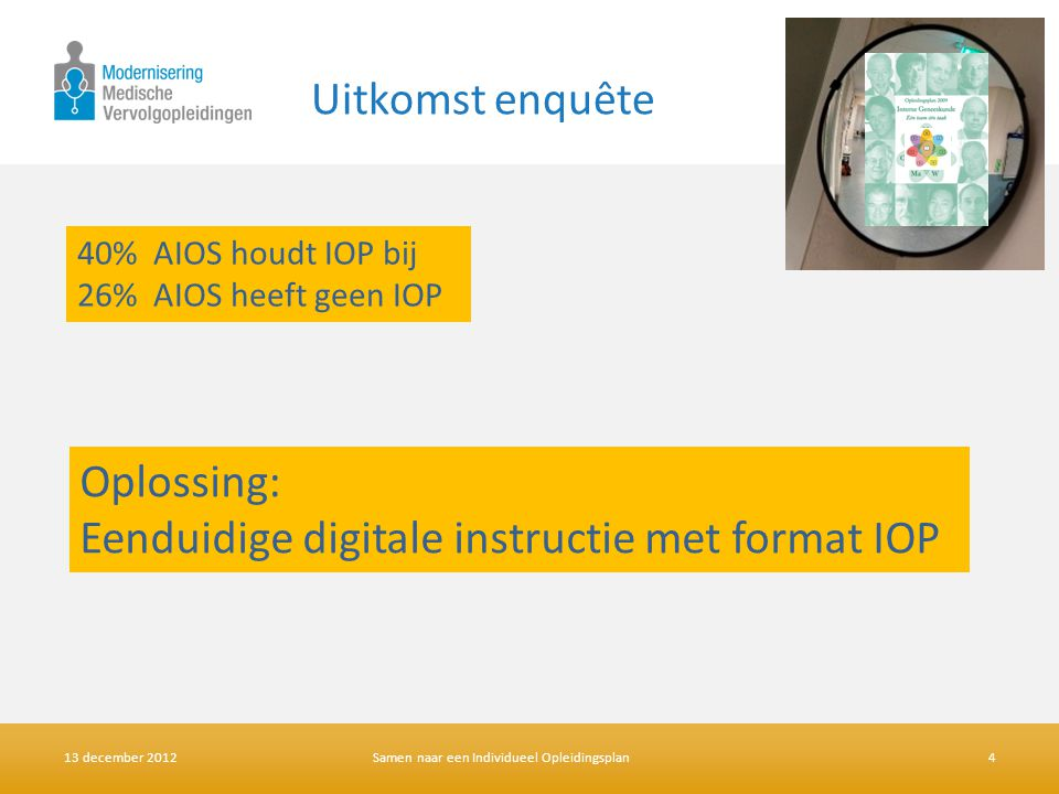 Eenduidige digitale instructie met format IOP