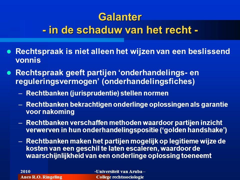 Galanter - in de schaduw van het recht -