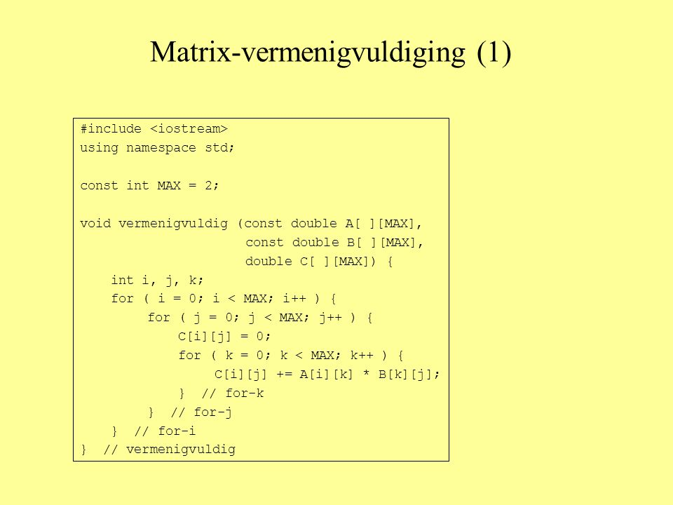Matrix-vermenigvuldiging (1)