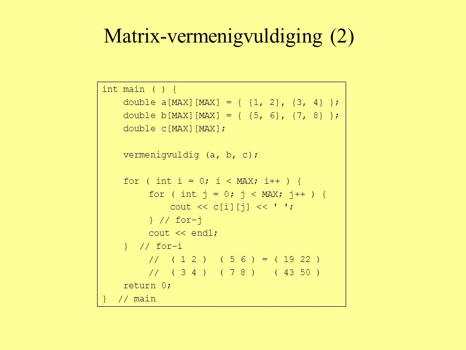 Matrix-vermenigvuldiging (2)