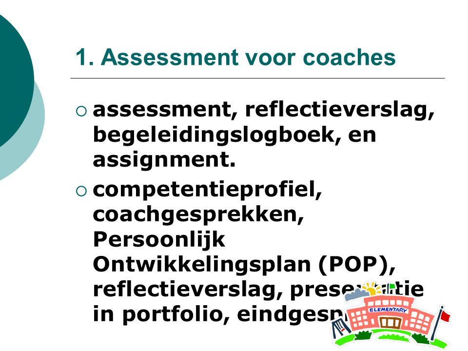 1. Assessment voor coaches