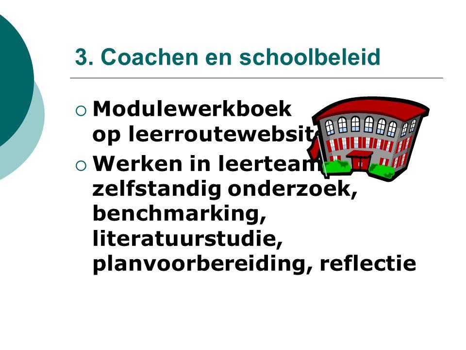 3. Coachen en schoolbeleid