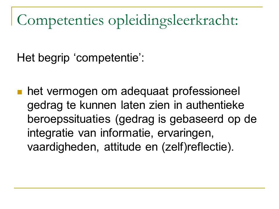 Competenties opleidingsleerkracht: