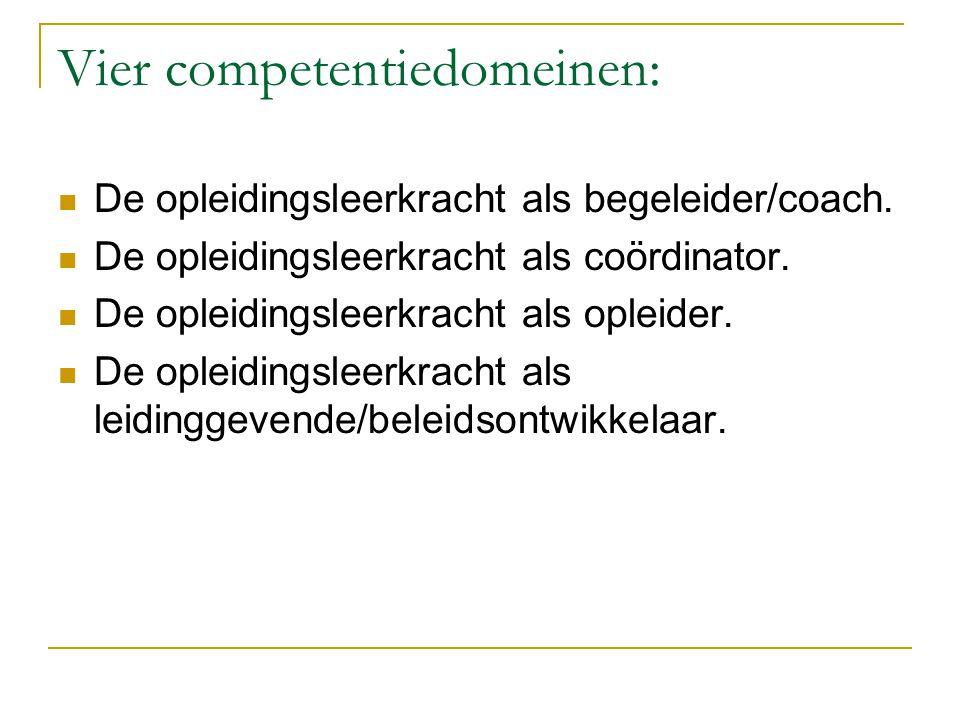 Vier competentiedomeinen: