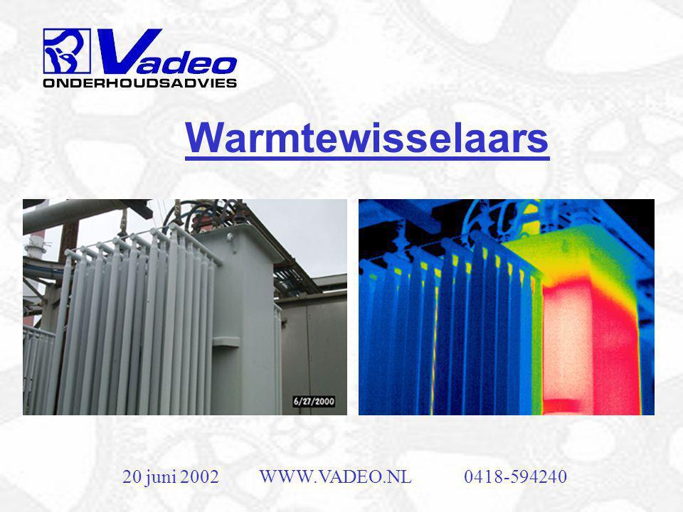 Warmtewisselaars 20 juni 2002 WWW.VADEO.NL 0418-594240