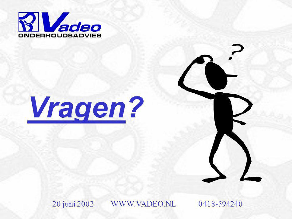 Vragen 20 juni 2002 WWW.VADEO.NL 0418-594240
