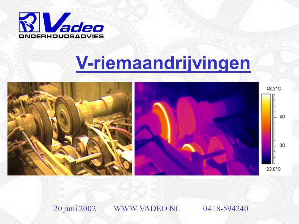 V-riemaandrijvingen 20 juni 2002 WWW.VADEO.NL 0418-594240