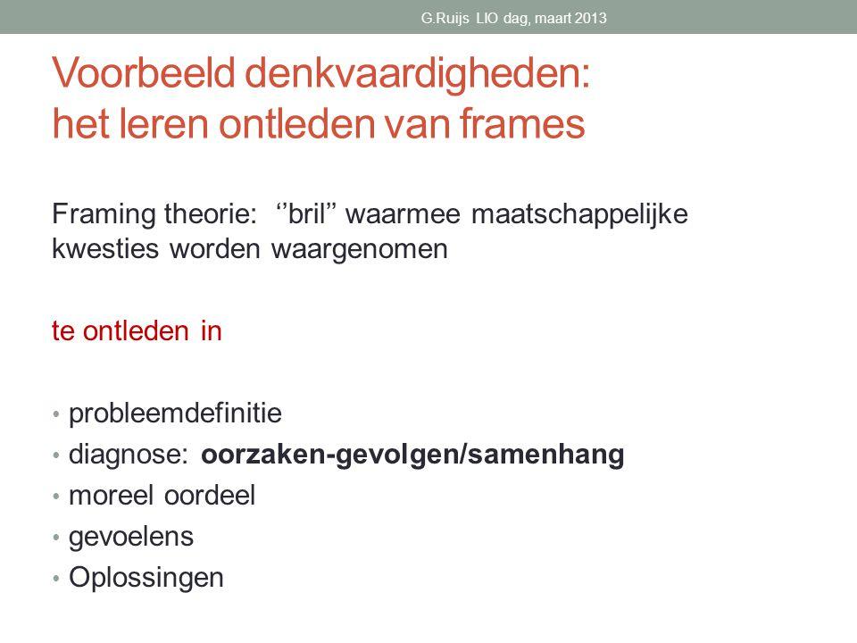 Voorbeeld denkvaardigheden: het leren ontleden van frames