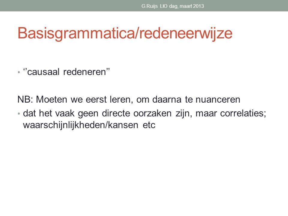 Basisgrammatica/redeneerwijze