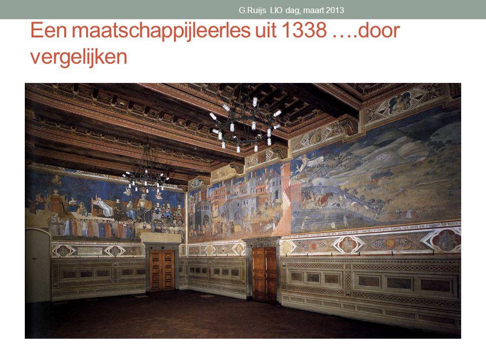 Een maatschappijleerles uit 1338 ….door vergelijken