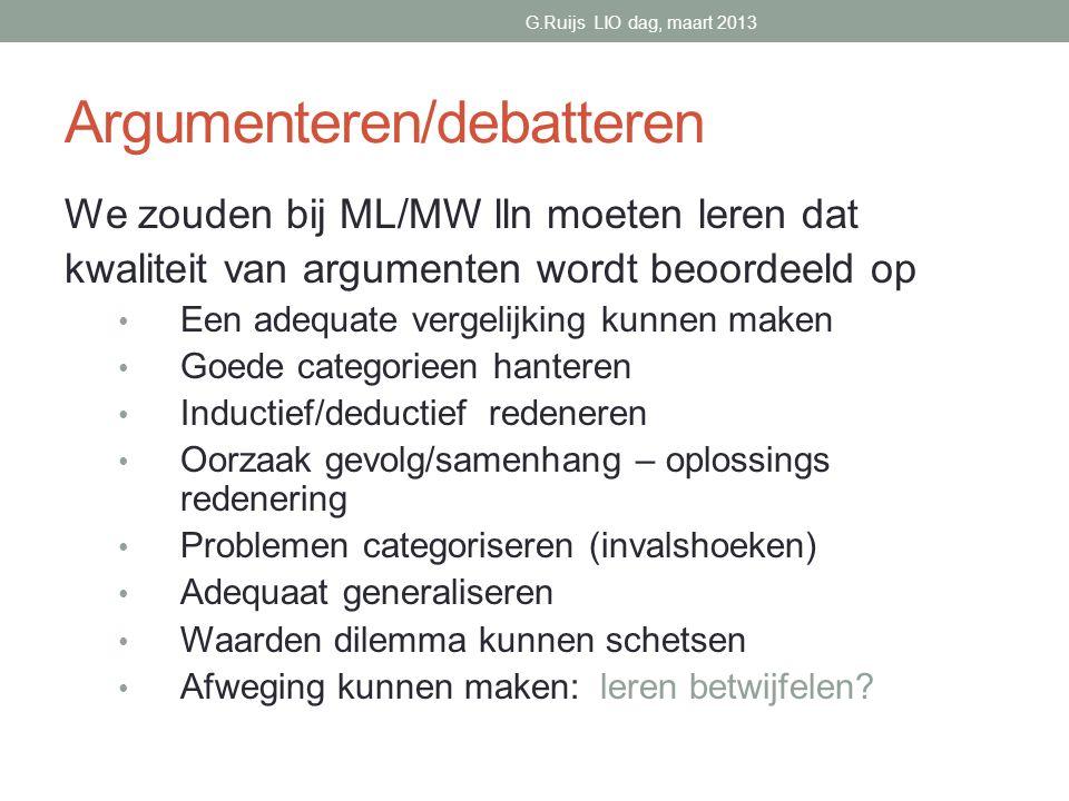 Argumenteren/debatteren
