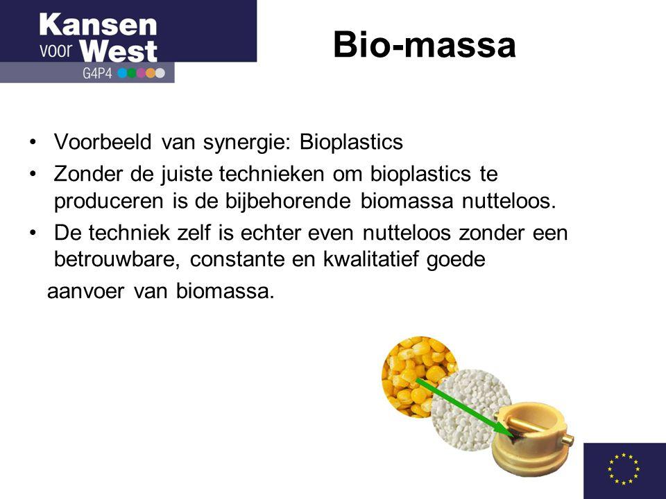 Bio-massa Voorbeeld van synergie: Bioplastics