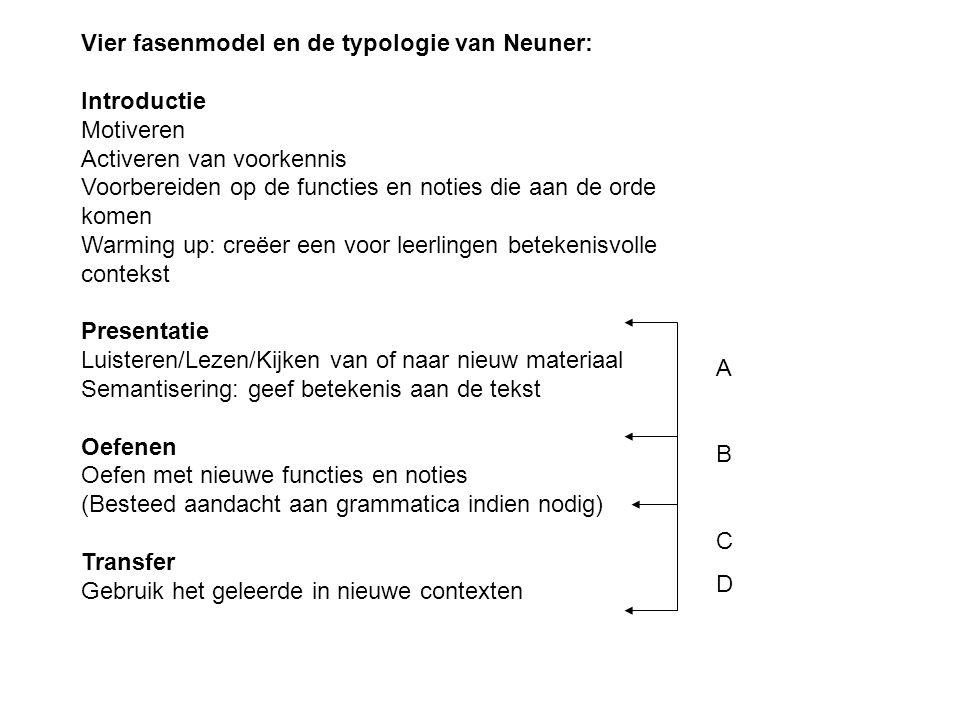 Vier fasenmodel en de typologie van Neuner: