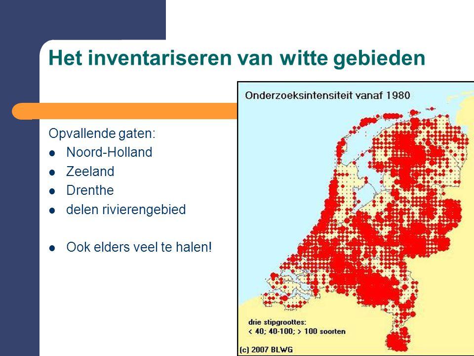 Het inventariseren van witte gebieden