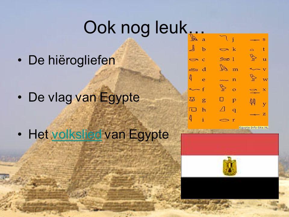 Ook nog leuk… De hiërogliefen De vlag van Egypte