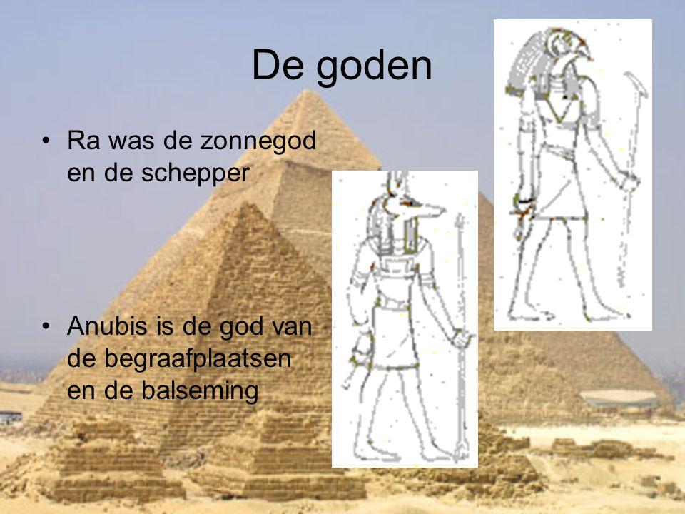 De goden Ra was de zonnegod en de schepper