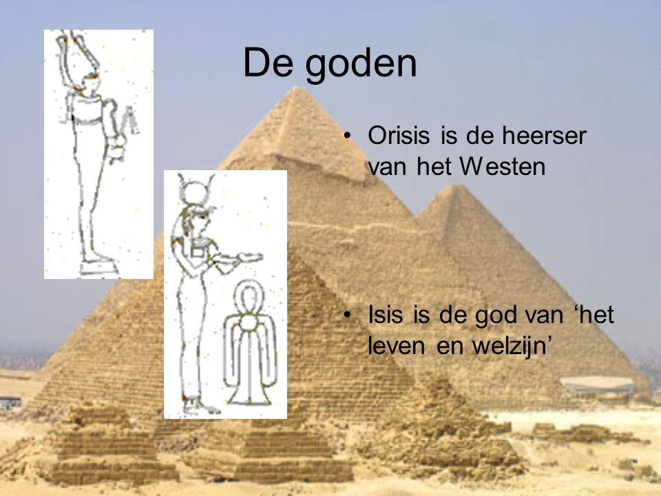 De goden Orisis is de heerser van het Westen