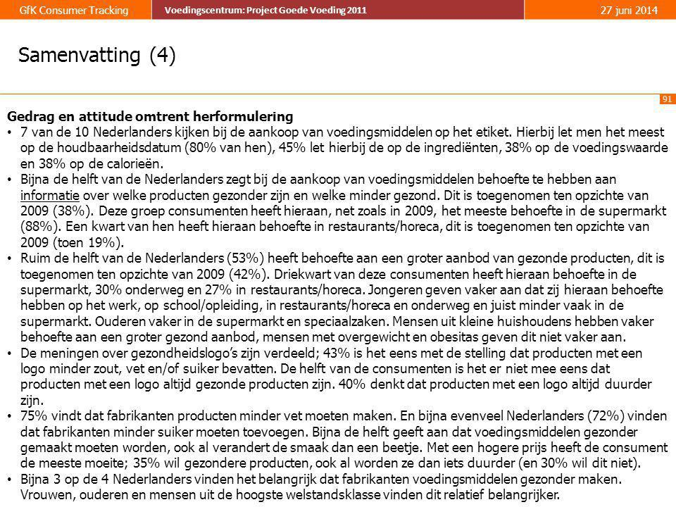 Samenvatting (4) Gedrag en attitude omtrent herformulering