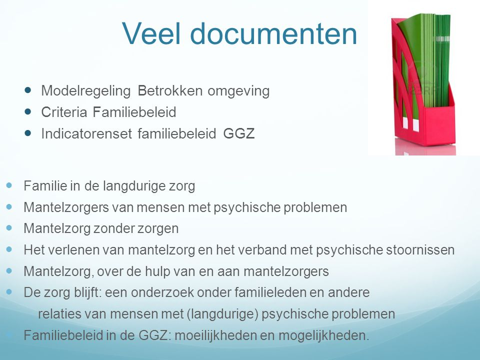 Veel documenten Modelregeling Betrokken omgeving