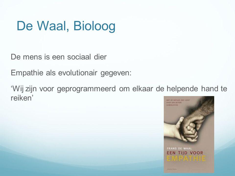 De Waal, Bioloog De mens is een sociaal dier