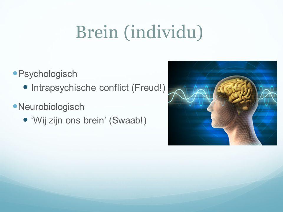 Brein (individu) Psychologisch Intrapsychische conflict (Freud!)