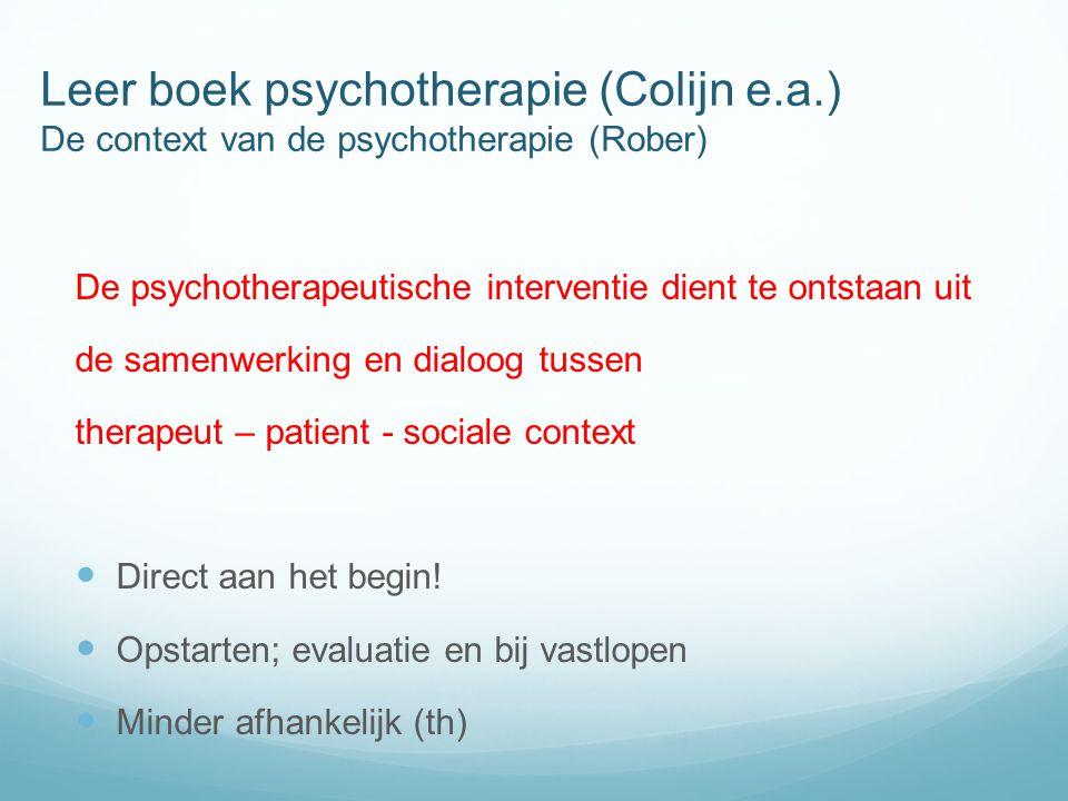 Leer boek psychotherapie (Colijn e. a