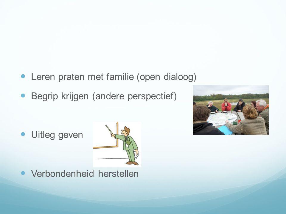 Leren praten met familie (open dialoog)