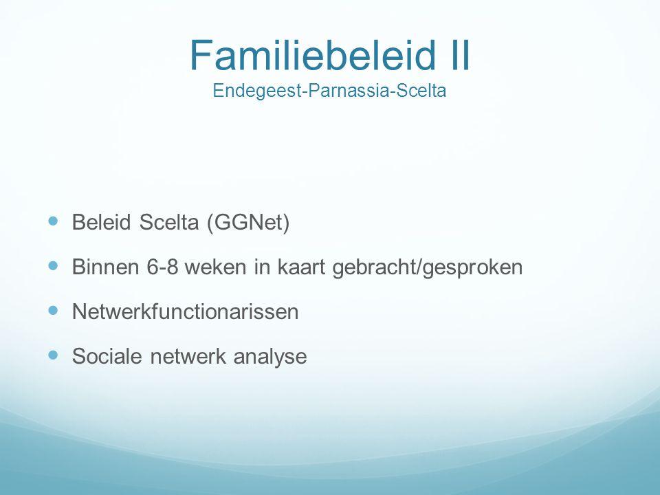 Familiebeleid II Endegeest-Parnassia-Scelta