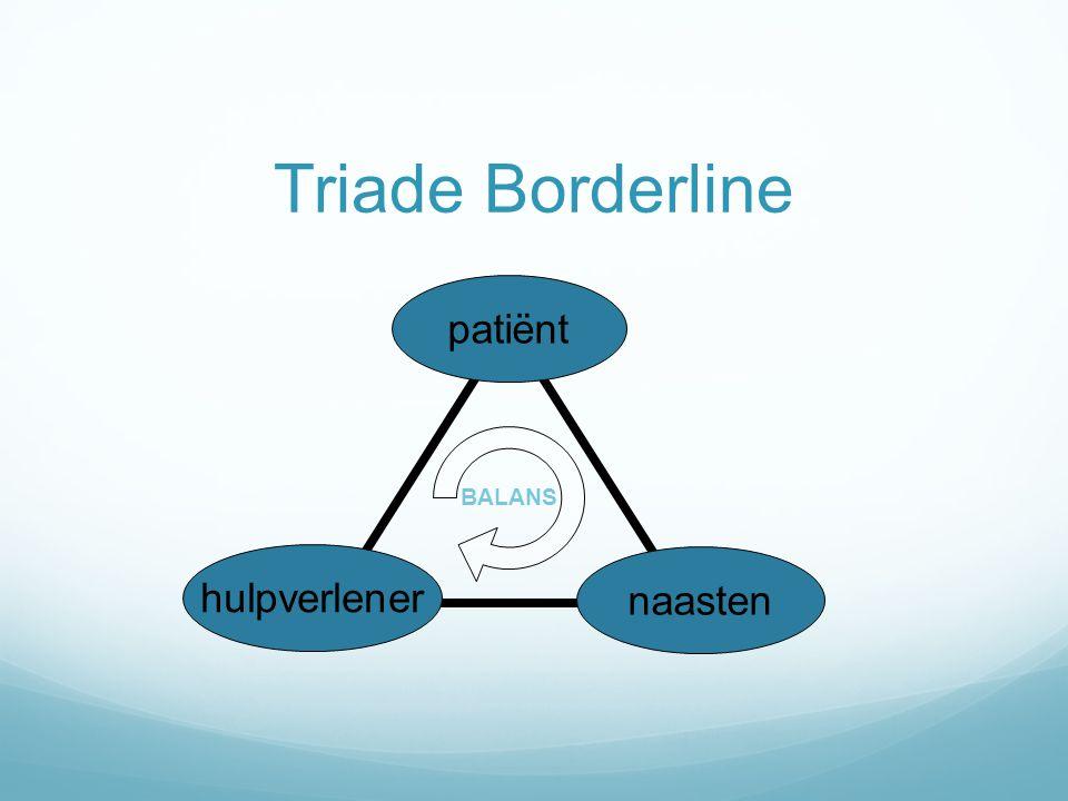 Triade Borderline patiënt BALANS hulpverlener naasten 6