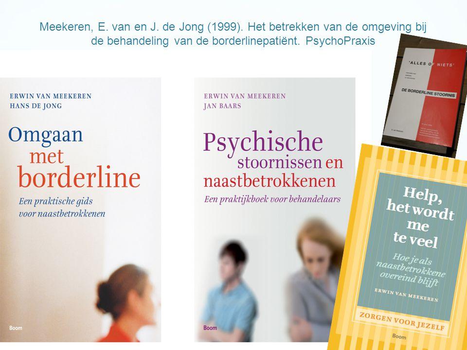 Meekeren, E. van en J. de Jong (1999)