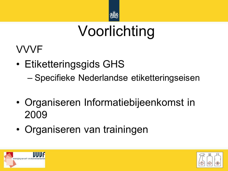 Voorlichting VVVF Etiketteringsgids GHS