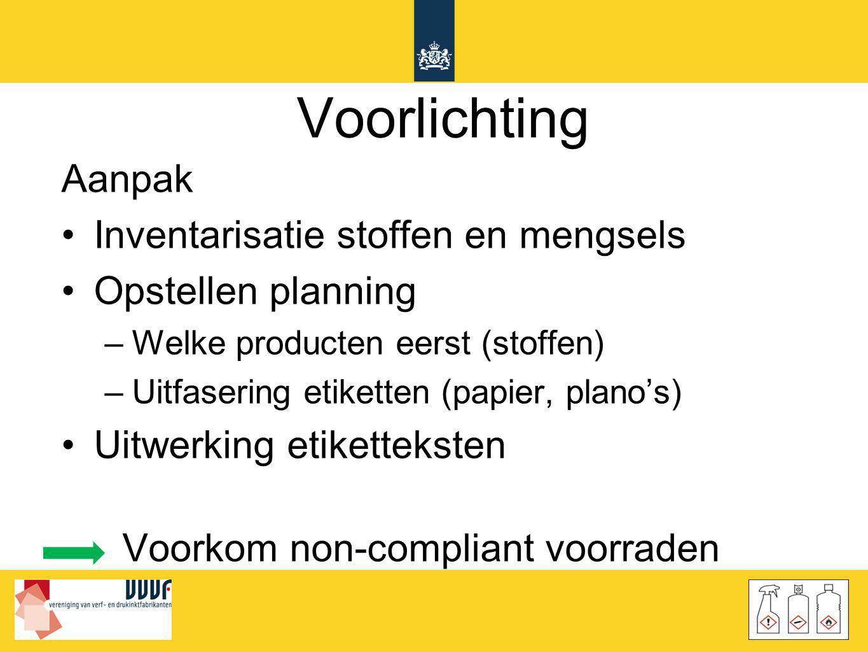 Voorlichting Aanpak Inventarisatie stoffen en mengsels