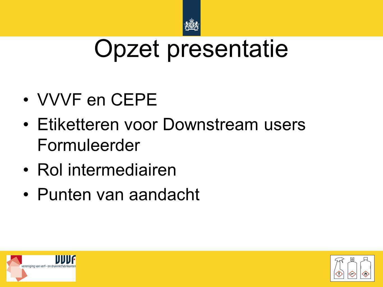 Opzet presentatie VVVF en CEPE