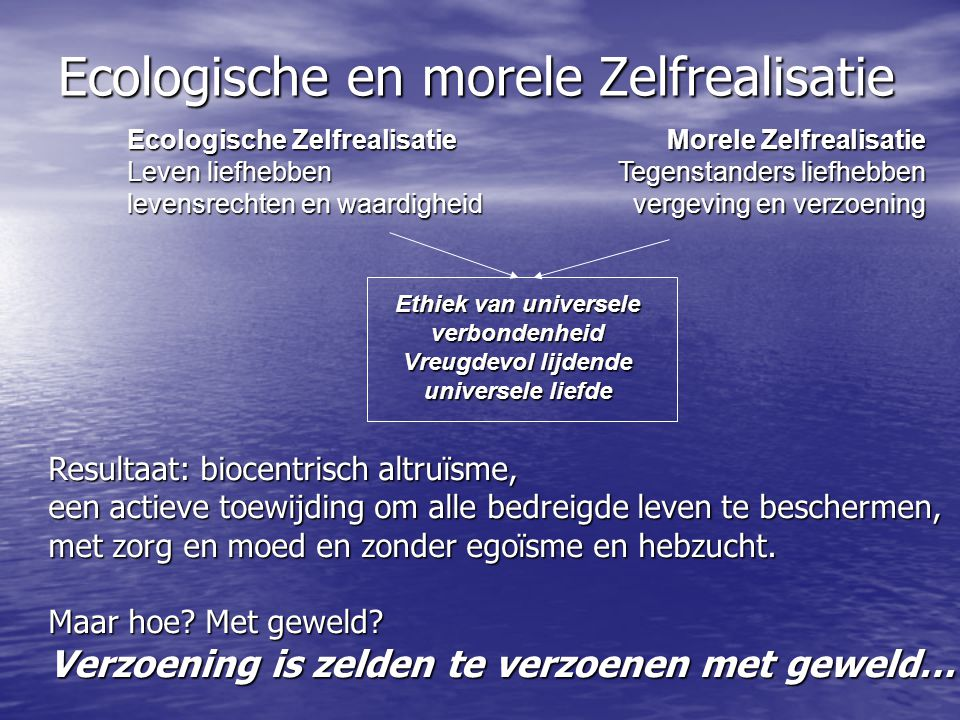 Ecologische en morele Zelfrealisatie