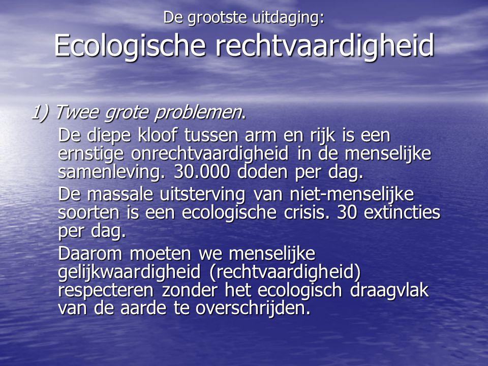 De grootste uitdaging: Ecologische rechtvaardigheid