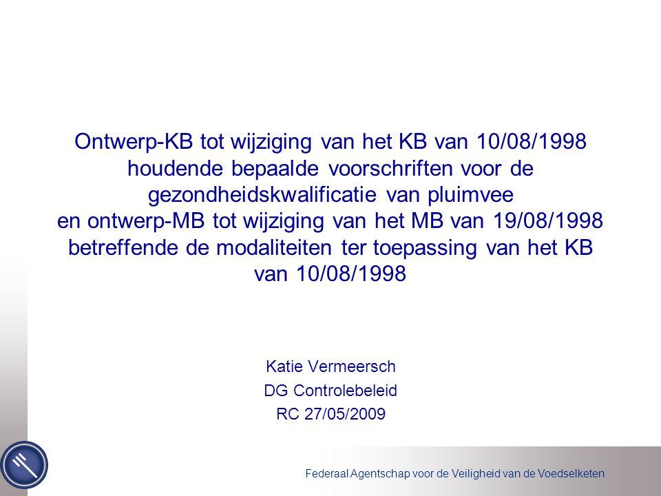 Katie Vermeersch DG Controlebeleid RC 27/05/2009