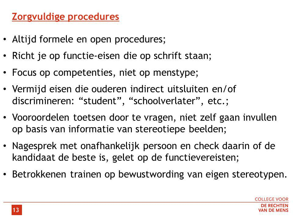 Zorgvuldige procedures